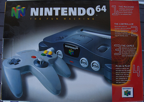 N64: CONSOLE - BLACK - 1 CTRL AND HOOKUPS (USED)