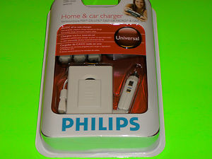 NDS: CHARGER FOR HOME - PHILIPS - CAR/HOME - 5 IN ONE - INCLUDING GB MICRO (NEW)