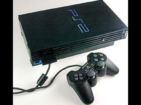 PS2: CONSOLE - FAT BLACK MODEL - INCL: 1 GENERIC CTRL; HOOKUPS (USED)