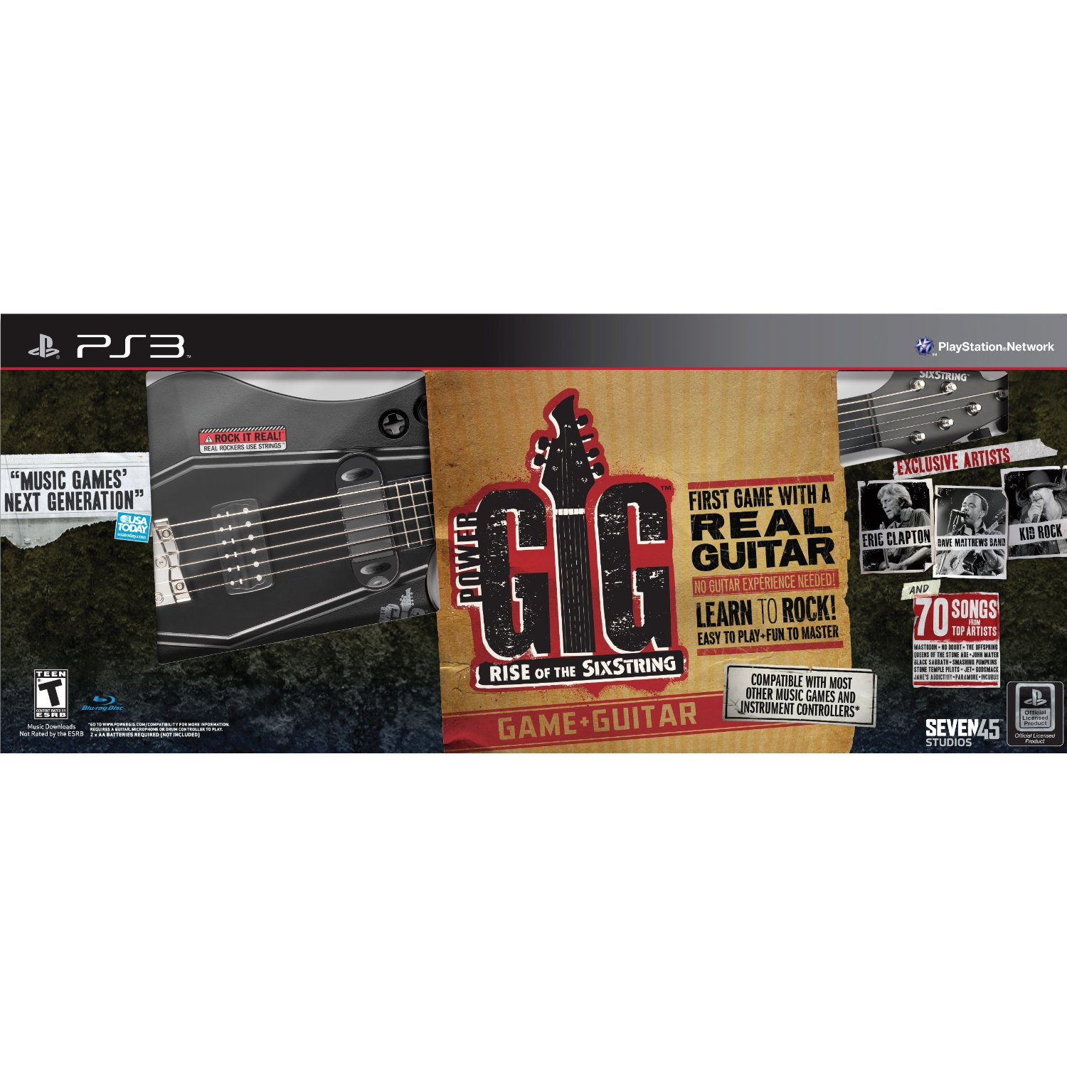 PS3: POWER GIG: RISE OF THE SIX STRING (SOFTWARE ONLY) (COMPLETE)