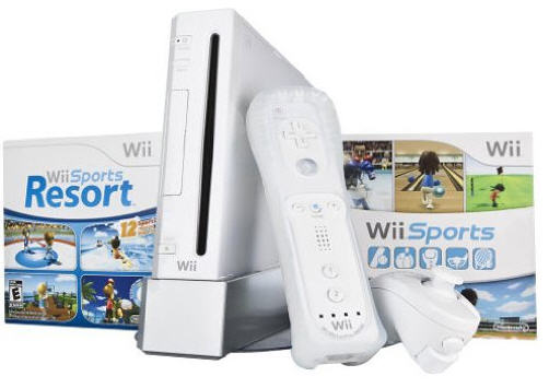 WII: CONSOLE - BACKWARDS COMPATIBLE - WHITE - INCLUDES: 1 CTRL AND HOOKUPS (USED)